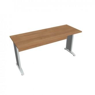 Stůl pracovní rovný 160 cm hl. 60 HOBIS - CE 1600 - šedý kov