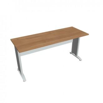 Stůl pracovní rovný 160 cm hl. 60 HOBIS - CE 1600 (šedý korpus) - šedý kov