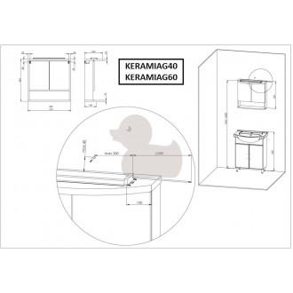 Zrcadlová skříňka s osvětlením Keramia Pro 61x60 cm KERAMIAG60