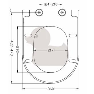 WC prkénko Glacera duroplast bílá