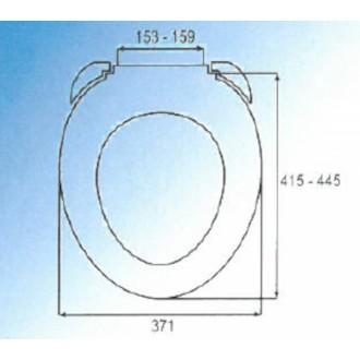 WC prkénko Multi thermoplast bílá UNIVERSAL